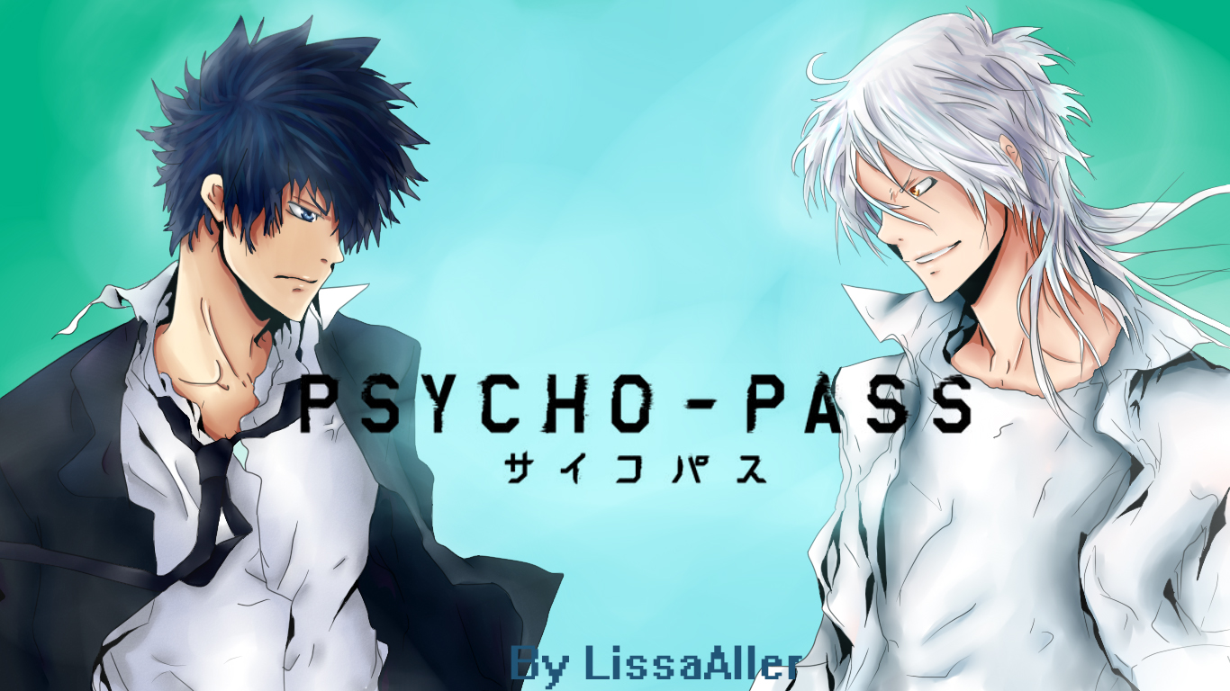 Psycho-Pass Kougami Shinya and Shogo Makishima by LissaAller