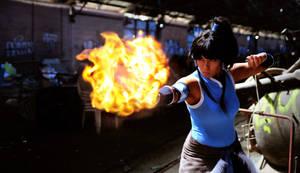 Legend of Korra: Avatar Element Fire by K-tetsu