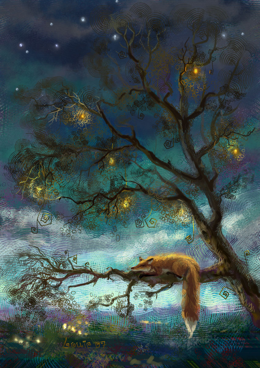Fox by louielorry on deviantart - The hideout in the woods an artists dream ...