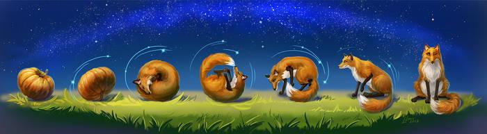 Halloween Fox by LouieLorry
