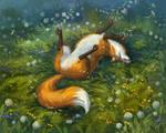 Fox And Dandelions
