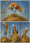 About foxes and leaves 02 by LouieLorry