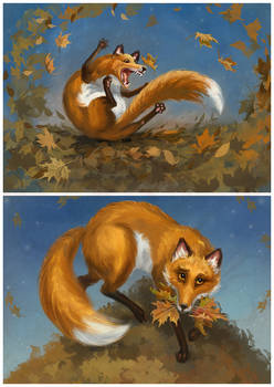 About foxes and leaves 03