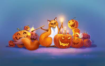 Halloween Fox2 by LouieLorry