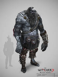 The Witcher 3: Ice Giant concept art. by Marmad