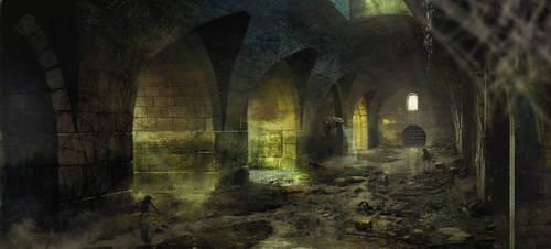 Sewers Witcher3 Marek Madej by Marmad