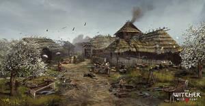 The Witcher 3: Wild Hunt - Village Concept Art