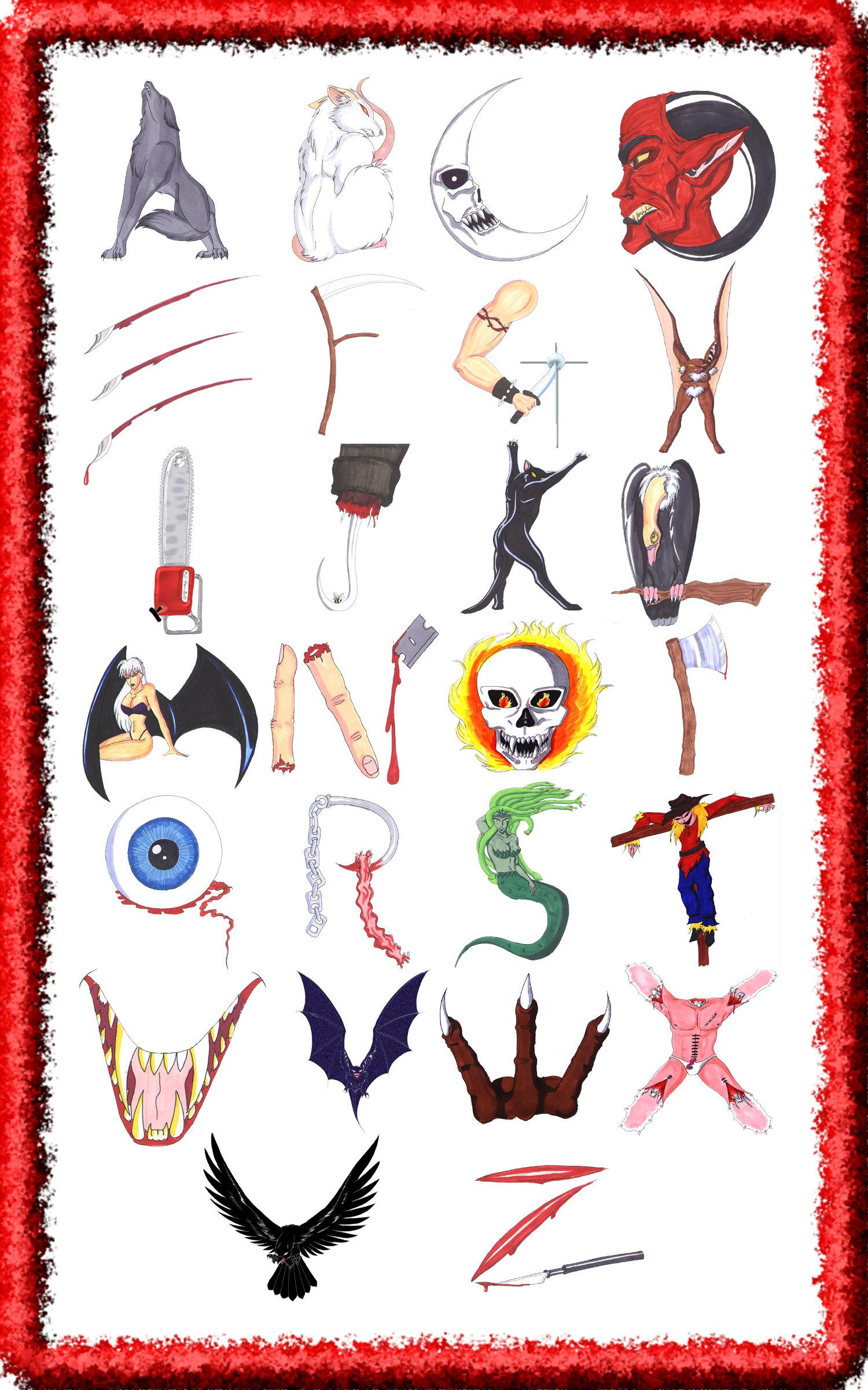 Letter Art Design : Alphabet design by izzy ko on deviantart