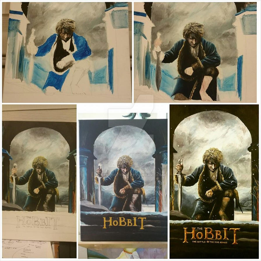 Painting Process - The Hobbit by aeroscythel