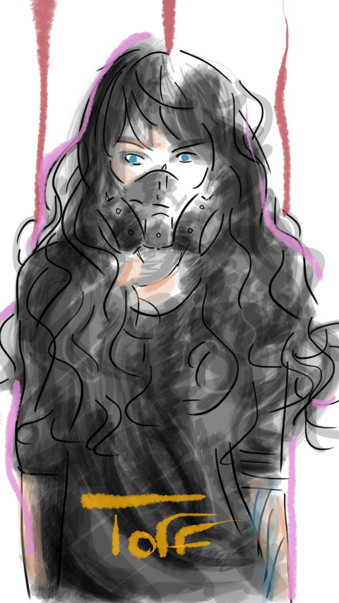 Gaz Mask Girl 2 by ToffGraff