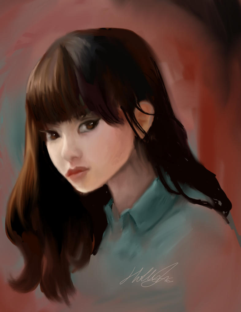 girl with bangs by Mckendryhr