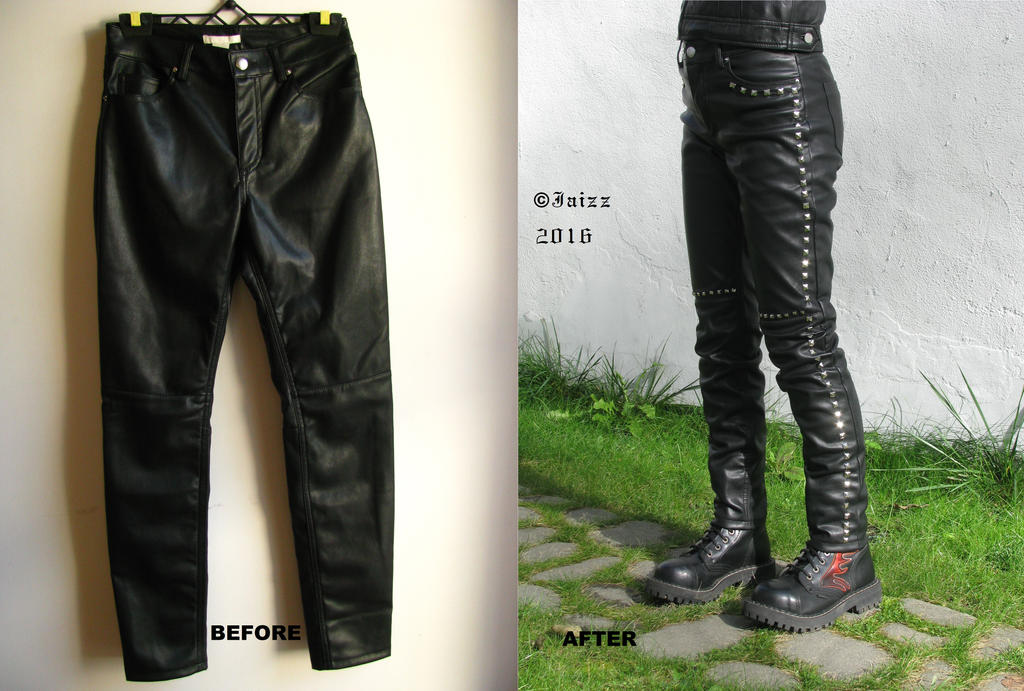 Trousers with studs by Jaizz