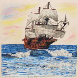 On the high seas...