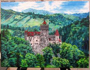 Castel painting |Castelul Bran, Transilvania