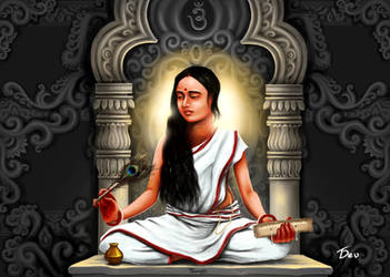 Saraswati- the goddess of speech and learning by Tamojitdev
