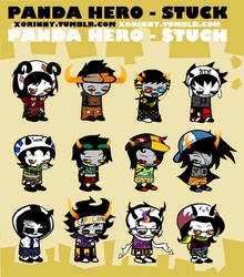 Panda Hero-Stuck : Sprites by princelupin