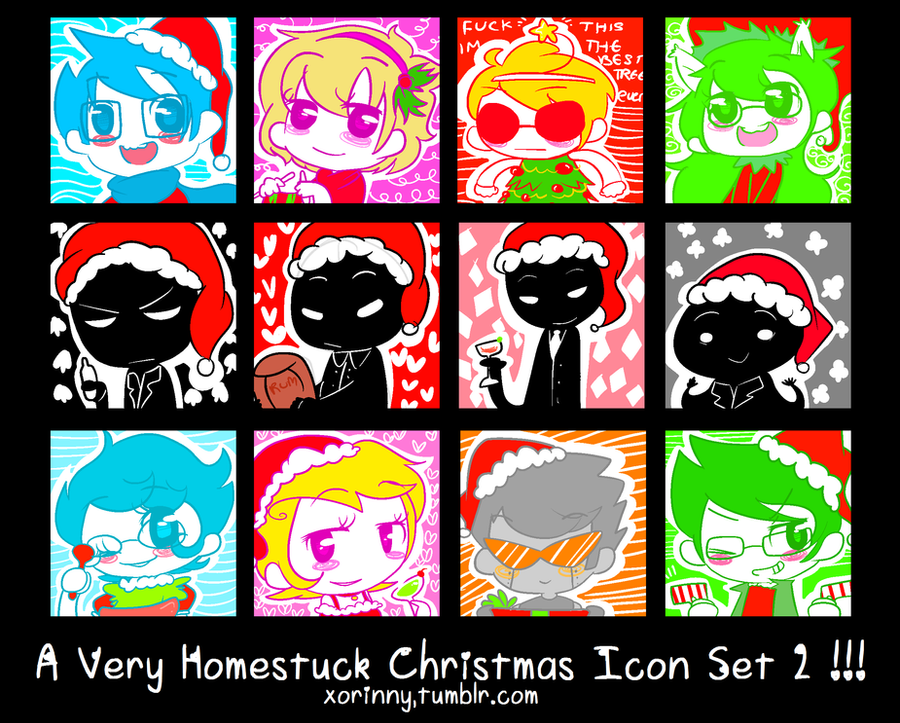 A Very Homestuck Christmas Icon Set 2 by princelupin on DeviantArt