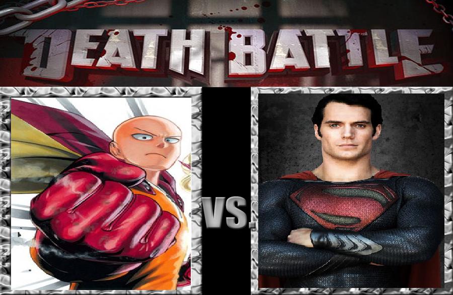 Saitama Of One Punch Man Yuusuke Version Vs Superman The Steel
