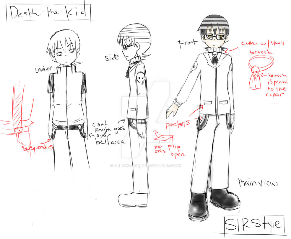 Death the Kid SLR outfit reference by Dream-Paint