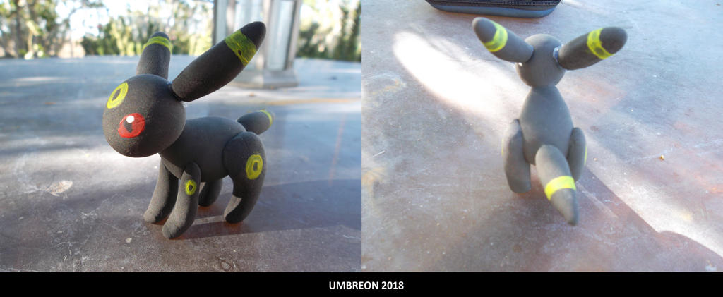 Umbreon clay figure made by me 2018 by Dream-Paint