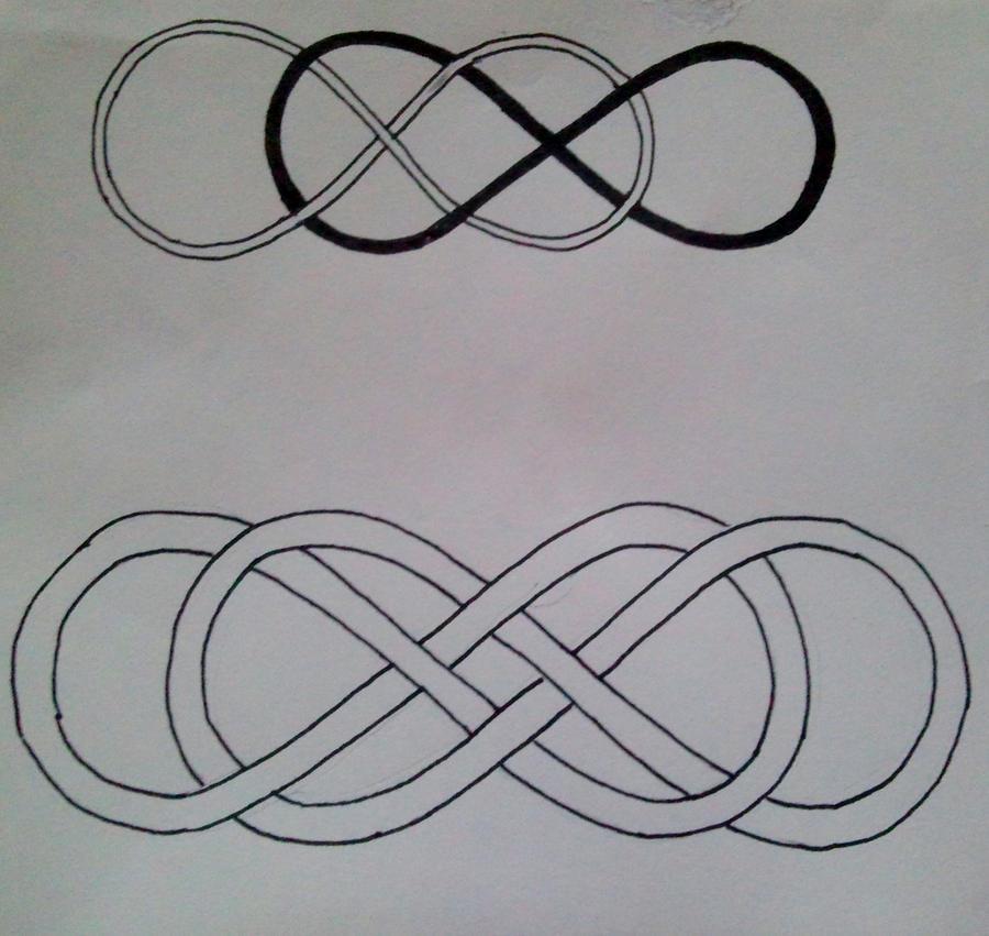 Infinity double heart tattoo