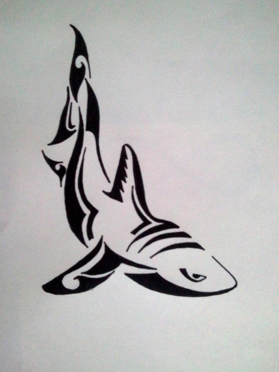 Tribal great white shark - photo#13