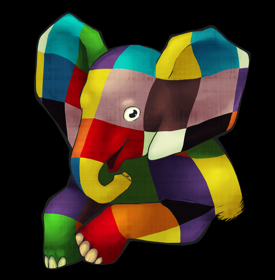 Elmer the Elephant by Agowilt