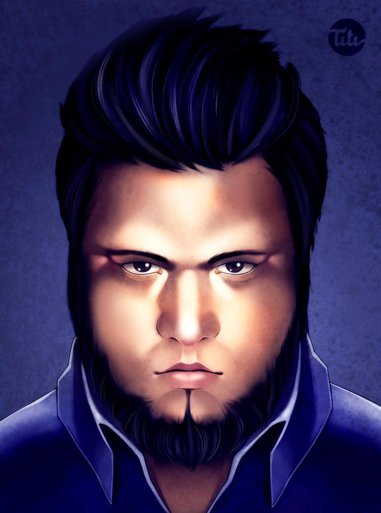 Self portrait by titi-artwork