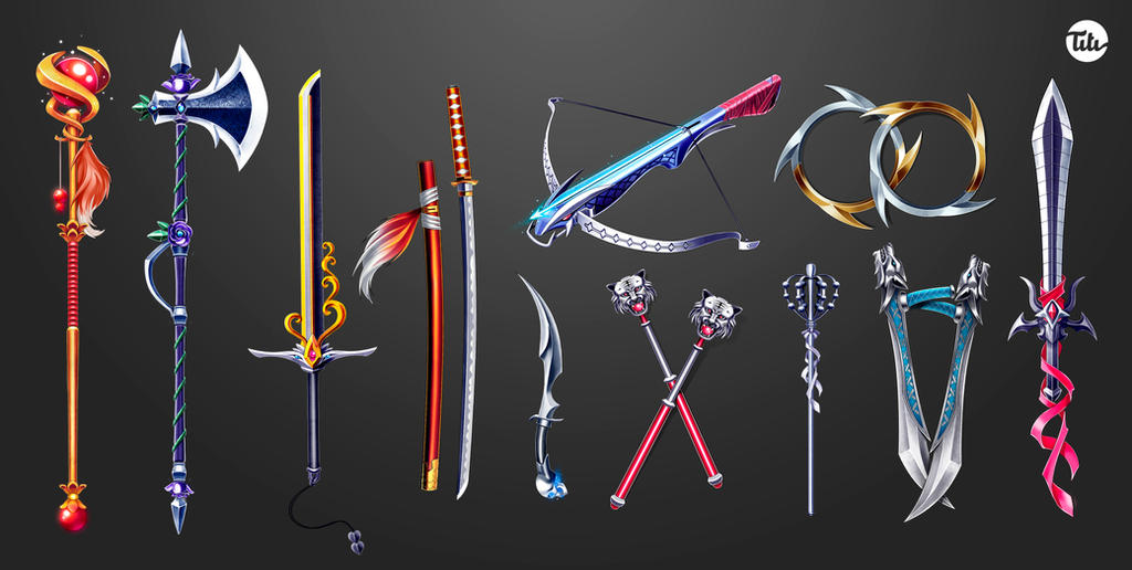 Weapons Designs by titi-artwork