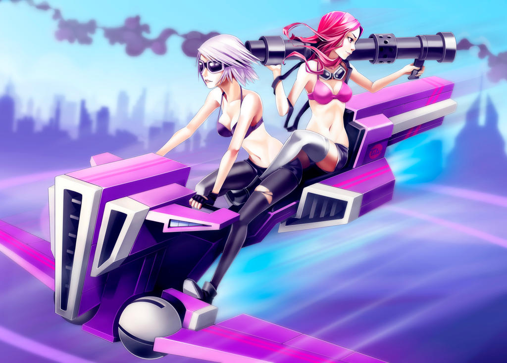 Girls on the road by titi-artwork