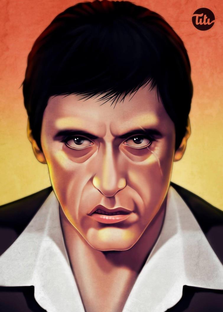 Tony Montana Scarface by titi-artwork