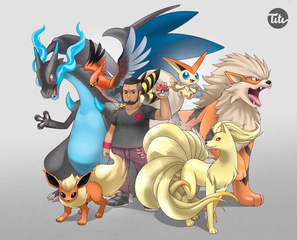 My Pokemon Dream Team by titi-artwork
