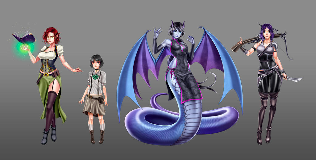 Characters Vol. 1 by titi-artwork