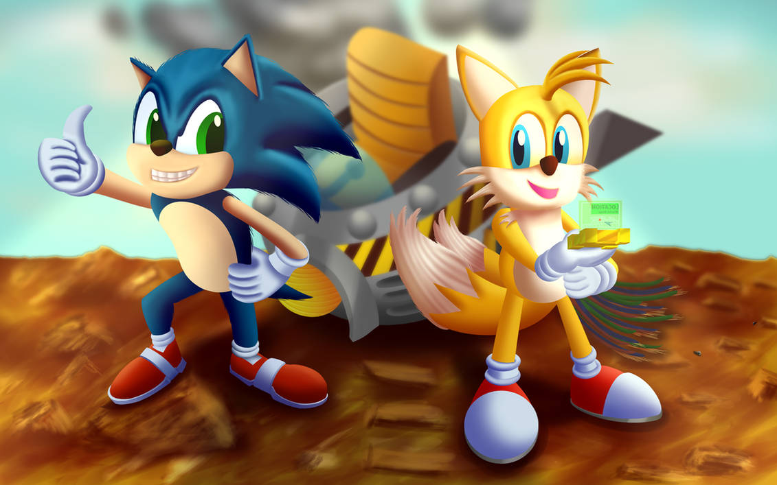 Sonic And Tails Destroyed Eggman S Ship By Leonkay On Deviantart