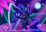Princess Luna Playing Harp