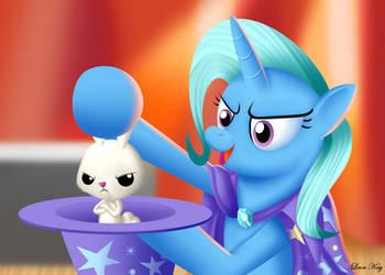 Trixie Performing Magic Trick