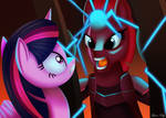 Tempest caught Twilight by LeonKay