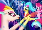 Pinkie Pie, Princess Skystar and Queen Novo sing