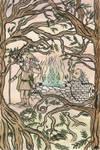 Odinn and Mimir