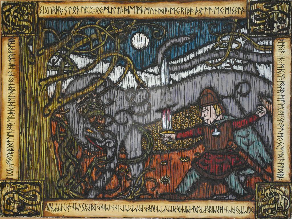Sigurd Slays Fafnir