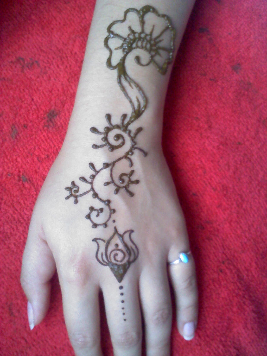 Henna Arm Designs Flower Henna Arm Flower Design by
