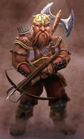 Dwarf Crossbowman by thepenciler
