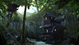 Jungle camp concept art