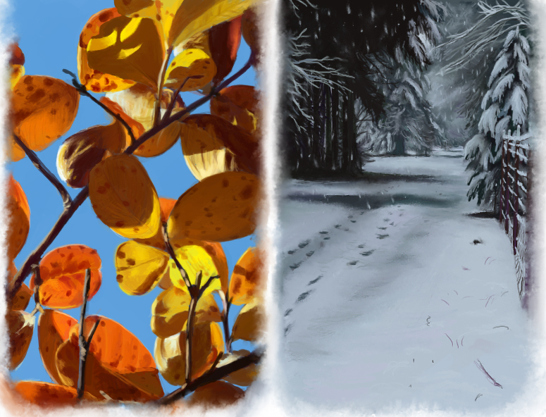 Fall Winter Speedpaints by Joava