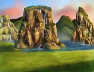 Fantasy Landscape by Joava
