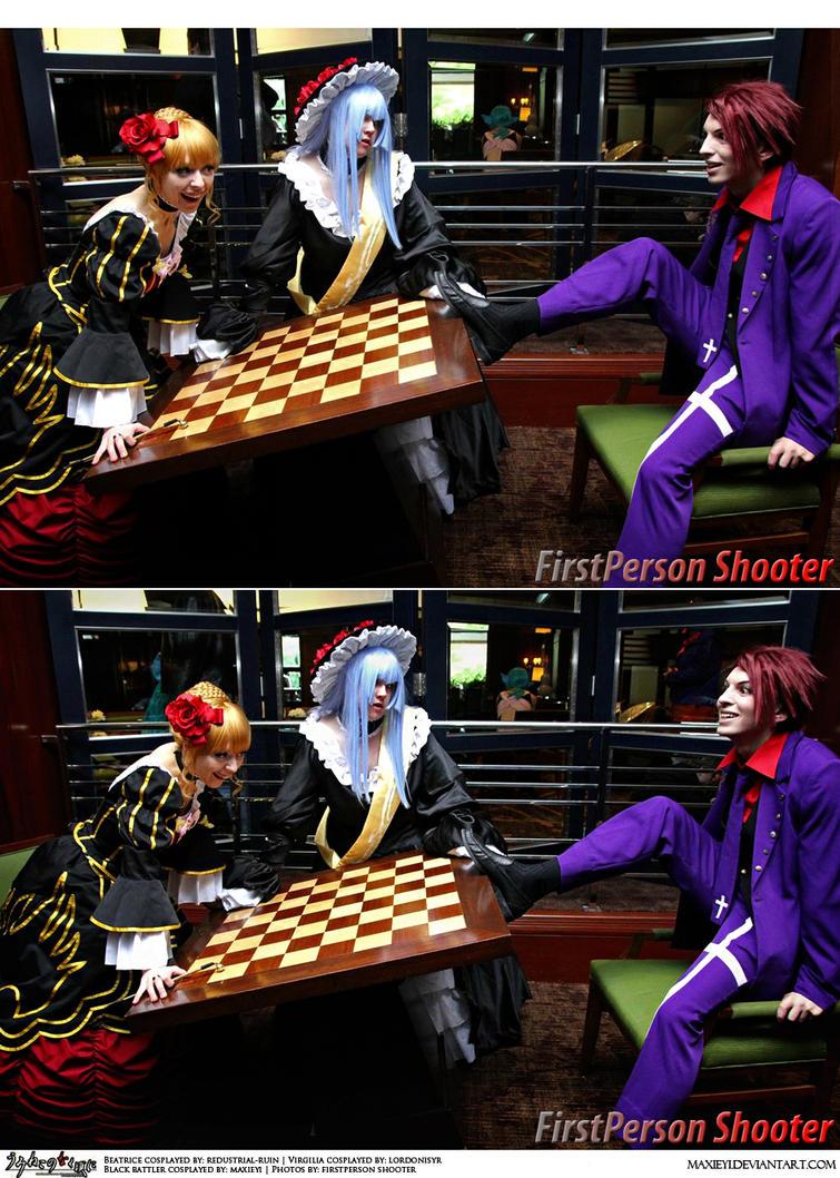 Umineko Cosplay: Turn the Chessboard Over by Maxieyi