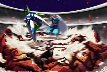 Dragonball Multiverse - Cell VS Dabra by hoCbo
