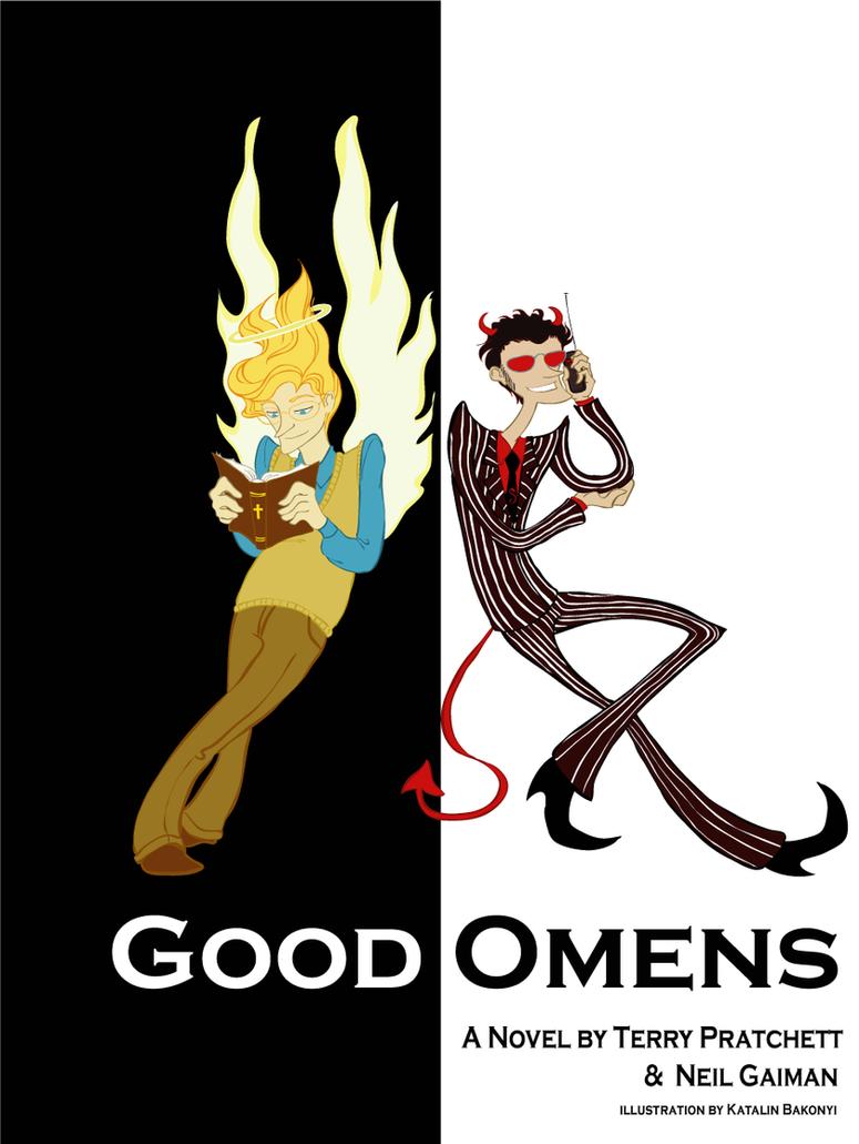 Good omens cover design by kbakonyi on deviantart for Portent meaning