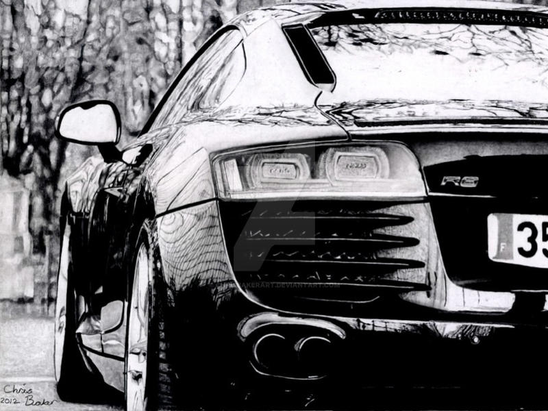 Audi R8 sports car by Chrisbakerart