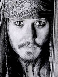 Captain Jack Sparrow by Chrisbakerart